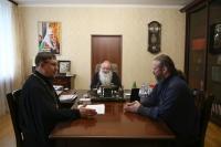 Встреча митрополита Орловсокого и Болховского Тихона с делегацией Тульской митрополии. 19 июня 2019 г.