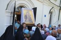 В болховском Троицком Оптином Рождества Богородицы женском монастыре состоялся праздник в честь Тихвинской иконы Божией Матери. 9 июля 2018 г.