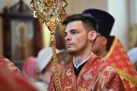 В Неделю 6-ю по Пасхе митрополит Орловский и Болховский Тихон совершил литургию в Воскресенском храме Орла. 2 июня 2019 г.