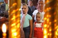 Митрополит Орловский и Болховский Тихон совершил всенощное бдение в храме иконы Матери Божией «Всех скорбящих Радосте» в поселке Знаменка-Орловская. 29 июня 2019 г.