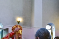 В день отдания праздника Пасхи митрополит Орловский и Болховский Тихон совершил в сослужении схиархимандрита Илия (Ноздрина) литургию в Воскресенском храме монастыря святого Кукши Мценского района. 5 июня 2019 г.