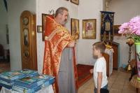 В Знаменском священник благословил школьников на летний сезон. 1 июня 2019 г.