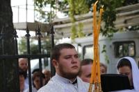 В рамках празднования 5-летия Ливенской епархии на здании духовно-просветительского центра епархии освящен барельеф. 25 июля 2019 г.