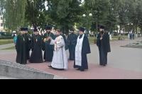 Орловское духовенство приняло участие в торжествах в честь 76-летия освобождения Орловской области от немецко-фашистских захватчиков. 5 августа 2019 г.