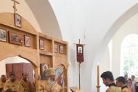 В Неделю 8-ю по Пятидесятнице митрополит Орловский и Болховский Тихон возглавил Божественную литургию в Свято-Троицком храме с. Кривчиково Кромского района. 11 августа 2019 г.