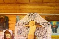 В канун Недели 9-й по Пятидесятнице митрополит Орловский и Болховский Тихон в сослужении схиархимандрита Илия (Ноздрина) совершил всенощное бдение в Преображенском храме с. Калинино Орловского района. 17 августа 2019 г.