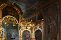 В предпразднество Преображения Господня митрополит Орловский и Болховский Тихон совершил Божественную литургию в Свято-Троицком храме города Орла. 18 августа 2019 г.