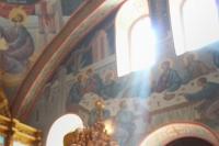 В праздник Преображения Господня митрополит Орловский и Болховский Тихон совершил литургию в Преображенском храме села Лаврово. 19 августа 2019 г.