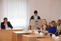 Митрополит Орловский и Болховский Тихон принял участие в заседании в координационного совета по вопросам межнациональных и межконфессиональных отношений при Администрации города Орла. 23 августа 2019 г.