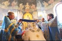 В праздник Успения Пресвятой Богородицы митрополит Орловский и Болховский Тихон совершил литургию в Свято-Успенском монастыре Орла. 28 августа 2019 г.