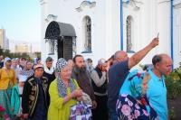Митрополит Орловский и Болховский Тихон возглавил всенощное бдение с чином погребения плащаницы Божией Матери в Свято-Успенском монастыре Орла. 29 августа 2019 г.
