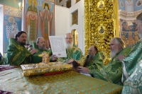 Святейший Патриарх Кирилл возглавил хиротонию архимандрита Нектария (Селезнева) во епископа Ливенского и Малоархангельского. 9 сентября 2014 г.