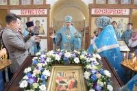 В праздник Рождества Пресвятой Богородицы митрополит Орловский и Болховский Антоний совершил литургию в Троицкой церкви Болхова. 21 сентября 2017 г.