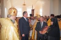 Митрополит Орловский и Болховский Антоний совершил Божественную литургию в Спасо-Преображенском соборе г. Болхова. 7 сентября 2014 г.