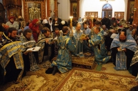 Архиепископ Антоний возглавил праздничное богослужение в Иверском храме в канун его 110-летия. 25 октября 2012 г.