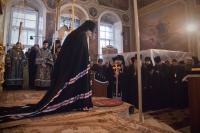 Архиепископ Антоний совершил вечерню с чином прощения в Ахтырском кафедральном соборе г. Орла. 17 марта 2013 г.
