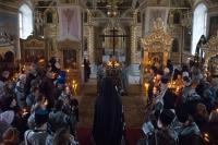 В понедельник первой седмицы Великого поста архиепископ Антоний совершил великое повечерие с чтением канона Андрея Критского в Ахтырском кафедральном соборе Орла. 18 марта 2013 г.