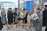 Архиепископ Орловский и Ливенский Антоний совершил освятил малые колокола для колокольни Богоявленского собора г. Орла. 30 апреля 2013 г.