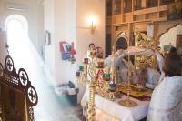 В праздник Собора Пресвятой Богородицы митрополит Орловский и Болховский Антоний совершил литургию в Свято-Введенском женском монастыре г. Орла. 8 января 2015 г.
