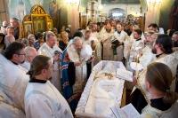 В селе Старцево-Лепешкино Орловского района состоялось отпевание и погребение протоиерея Иоанна Квятовича. 6 июня 2015 г.