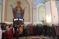 Митрополит Орловский и Болховский Антоний совершил Божественную литургию в храме Смоленской иконы Божией Матери г. Орла. 11 января 2015 г.