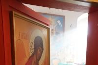 В день памяти святой блаженной Ксении Петербургской митрополит Орловский и Болховский Антоний и епископ Ливенский и Малоархангельский Нектарий совершили литургию в монастыре святой блаженной Ксении Петербургской с. Долбенкино Дмитровского района. 6 февраля 2015 г.