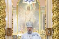 В Неделю о мытаре и фарисее митрополит Орловский и Болховский Антоний совершил литургию в Ахтырском кафедральном соборе. 21 февраля 2016 г.