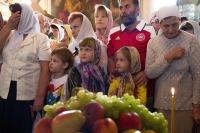 В праздник Преображения Господня архиепископ Орловский и Болховский Антоний совершил литургию в Ахтырском кафедральном соборе Орла. 19 августа 2014 г.
