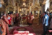 В Неделю 1-ю Великого поста архиепископ Орловский и Ливенский Антоний совершил литургию и Чин Торжества Православия в Ахтырском соборе. 9 марта 2014 г.