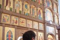 В день памяти 40 мучеников Севастийских архиепископ Антоний совершил Божественную литургию в Свято-Успенском монастыре. 22 марта 2014 г.