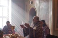 В неделю 3-ю Великого поста, Крестопоклонную, архиепископ Орловский и Ливенский Антоний совершил Божественную литургию свт. Василия Великого в Ахтырском кафедральном соборе г. Орла. 23 марта 2014 г.
