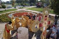 Архиепископ Орловский и Ливенский Антоний совершил Божественную литургию в храме святого Александра Невского г. Орла в день памяти святого. 12 сентября 2013 г.