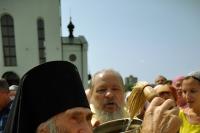 Архиепископ Орловский и Ливенский Антоний совершил Божественную литургию в Казанском храме Свято-Успенского мужского монастыря г. Орла и освятил камень в основание строительства Благовещенского храма. 12 июля 2013 г.