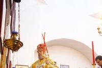 В Неделю 5-ю по Пасхе митрополит Орловский и Болховский Антоний совершил литургию в Знаменском храме пос. Знаменское. 14 мая 2017 г.