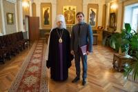 Врио губернатора Орловской области Андрей Клычков поздравил митрополита Орловского и Болховского Антония с днем рождения. 17 ноября 2017 г.