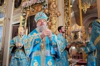 В день 275-летия со дня явления Ахтырской иконы Божией Матери архиепископ Орловский и Ливенский Антоний совершил Божественную литургию в Ахтырском кафедральном соборе Орла. 15 июля 2014 г.
