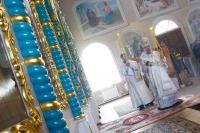 В субботу по Вознесению митрополит Орловский и Болховский Антоний возглавил Божественную литургию в Покровском храме с. Клейменово Орловского района. 27 мая 2017 г.
