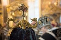 В Неделю 2-ю Великого поста митрополит Орловский и Болховский Антоний совершил вечернее богослужение с чином Пассии в Ахтырском кафедральном соборе г. Орла. 27 марта 2016 г.