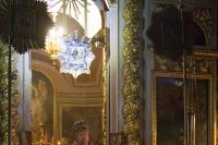 В канун Недели 3-й Великого поста, Крестопоклонной, митрополит Орловский и Болховский Антоний совершил всенощное бдение с чином выноса Креста Господня в Ахтырском кафедральном соборе Орла. 2 апреля 2016 г.