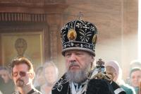 В Неделю 4-ю Великого поста митрополит Орловский и Болховский Антоний совершил вечернее богослужение с чином Пассии в Свято-Успенском мужском монастыре г. Орла. 10 апреля 2016 г.