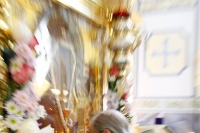 В день празднования Смоленской иконе Божией Матери митрополит Орловский и Болховский Антоний возглавил литургию в храме Смоленской иконе Божией Матери в Орле. 10 августа 2017 г.