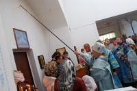 Митрополит Орловский и Болховский Антоний совершил Чин великого освящения Знаменского храма в п. Знаменское и Божественную литургию в новоосвященном храме. 24 сентября 2017 г.