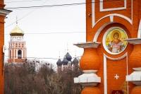 В день памяти 40 мучеников Севастийских митрополит Орловский и Болховский Антоний совершил Литургию Преждеосвященных Даров в Георгиевском храме города Болхова. 21 марта 2017 г.