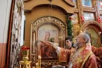 В день Радоницы митрополит Антоний совершил литургию и пасхальное поминовение усопших в Воскресенском храме Орла. 11 мая 2016 г.