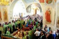 В Богоявленский собор города Орла доставлена честная глава преподобного Силуана Афонского. 3 сентября 2016 г.
