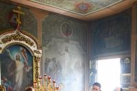 В Неделю 4-ю по Пасхе, о расслабленном, митрополит Орловский и Болховский Антоний совершил Божественную литургию в Свято-Троицком храме Орла. 7 мая 2017 г.