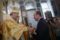Представители духовенства и органов государственной власти удостоены юбилейной медали «В память 200-летия победы в Отечественной войне 1812 года». 11 ноября 2012 г.
