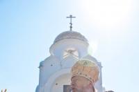 Божественная литургия в день памяти святого равноапостольного князя Владимира в храме Александра Невского в 909 квартале г. Орла. 28 июля 2012 г.