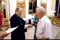 Архиепископ Орловский и Ливенский Антоний принял участие в приеме, посвященном Всероссийскому дню семьи, любви и верности в Мегакомплексе «ГРИНН». 6 июля 2012 г.