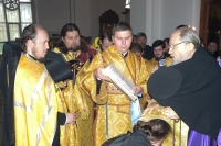 На годовом епархиальном собрании архиепископ Антоний совершил чин поставления иеромонаха Алексия (Заночкина) во игумена мужского монастыря во имя святого Кукши. 16 октября 2012 г.